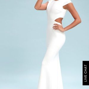 Be Still my Heart Backless White Maxi Dress